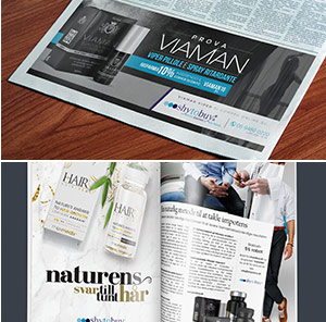 collage of different adverts for weightworld for example a newspaper magazine and a picture of one of our products